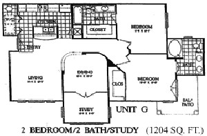 1,204 sq. ft. Hazelnut I floor plan