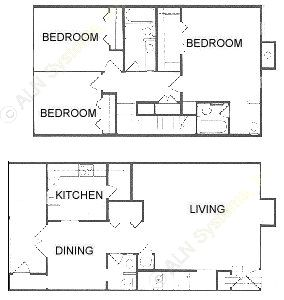 1,614 sq. ft. E floor plan