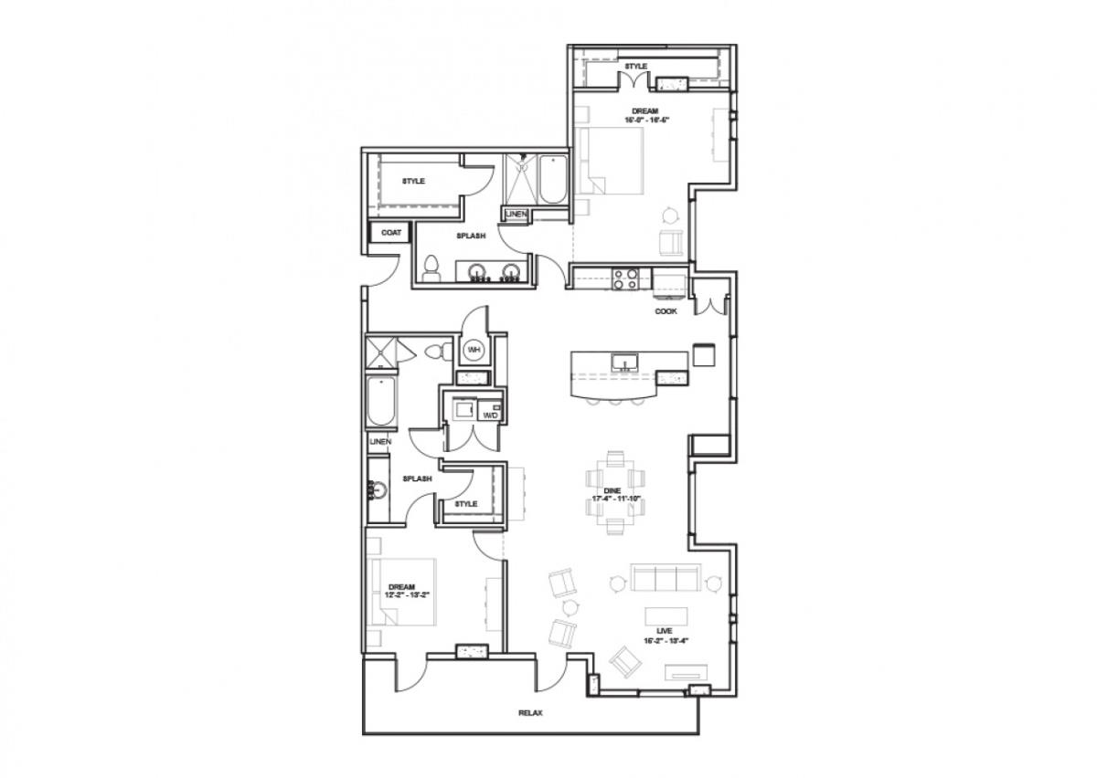 1,072 sq. ft. Norris floor plan