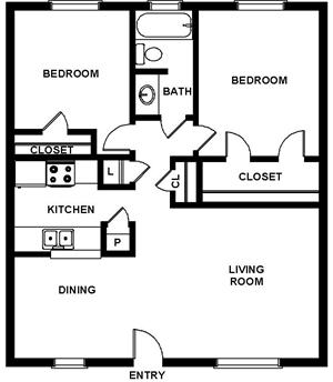 804 sq. ft. floor plan
