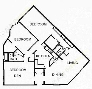 1,467 sq. ft. CONTMPRY floor plan