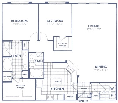 1,501 sq. ft. B1a floor plan