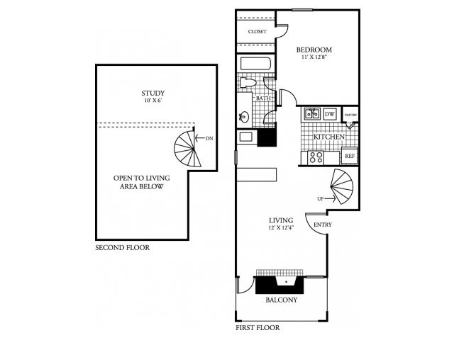 764 sq. ft. A4.2 floor plan