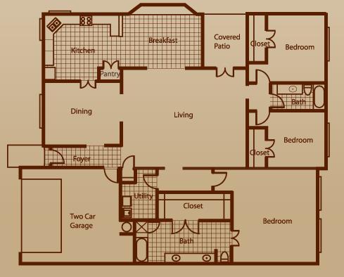 1,900 sq. ft. Grand Monarch w/2 GA floor plan