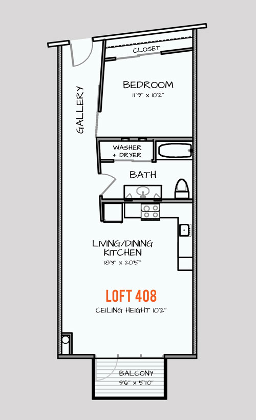 652 sq. ft. 301 floor plan
