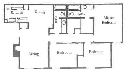 1,147 sq. ft. E1 floor plan
