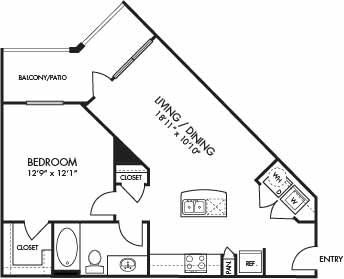 693 sq. ft. St. Croix floor plan
