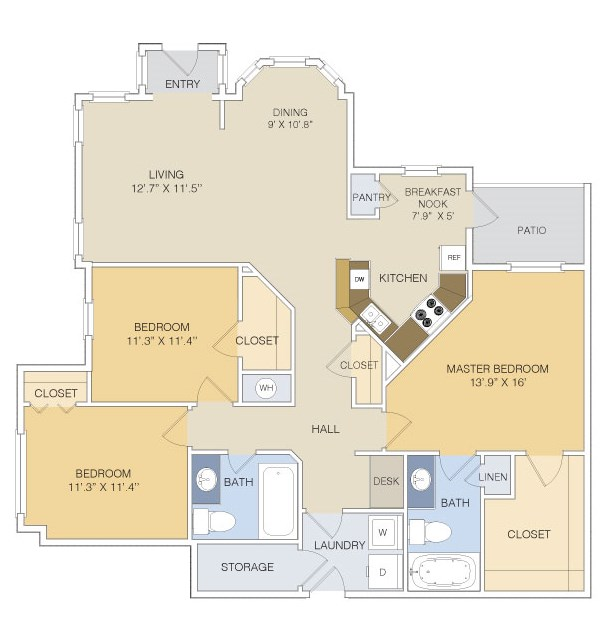 1,447 sq. ft. C1 LOWER floor plan