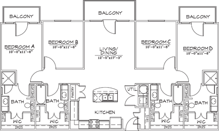 1,456 sq. ft. floor plan