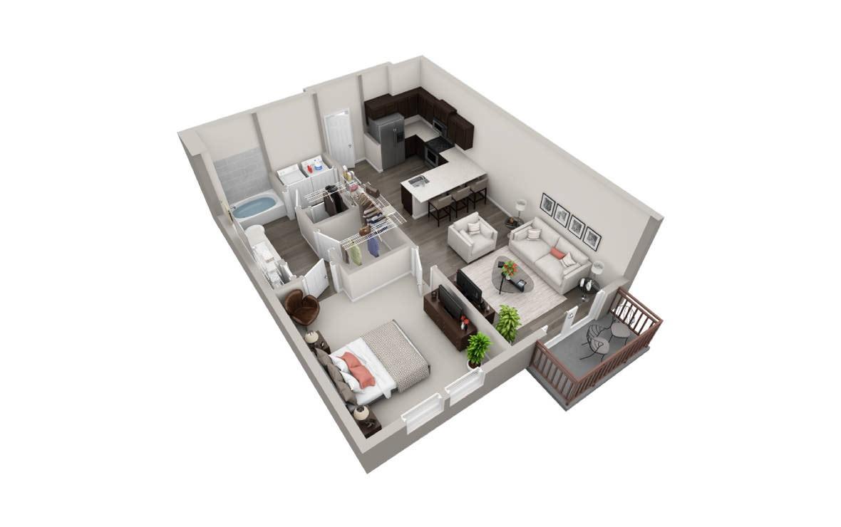 756 sq. ft. A2 Ansi floor plan