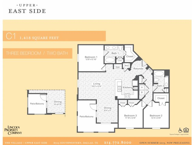 1,418 sq. ft. C1 floor plan