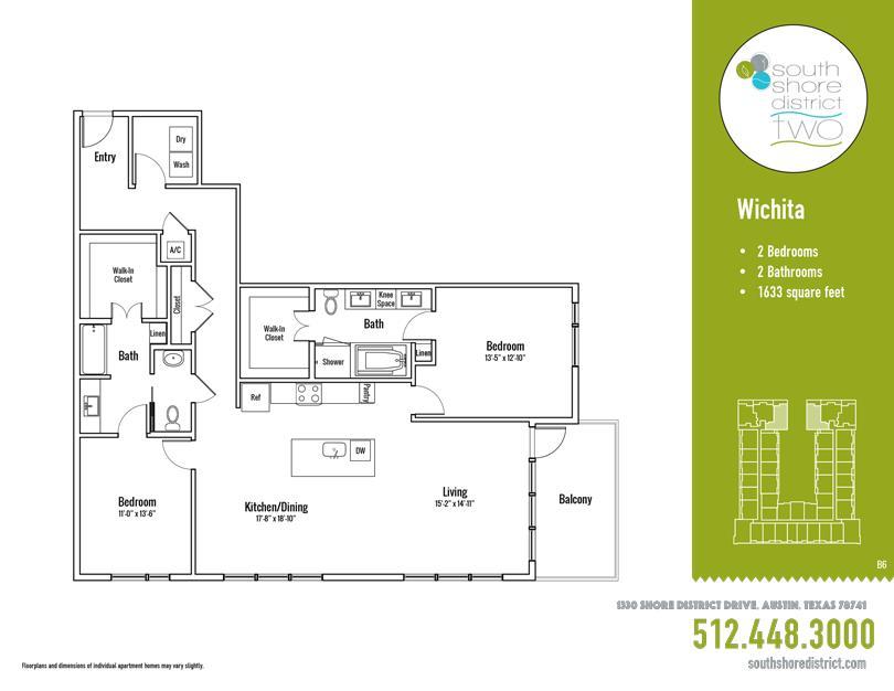 1,633 sq. ft. Wichita floor plan