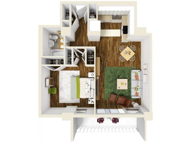 652 sq. ft. floor plan