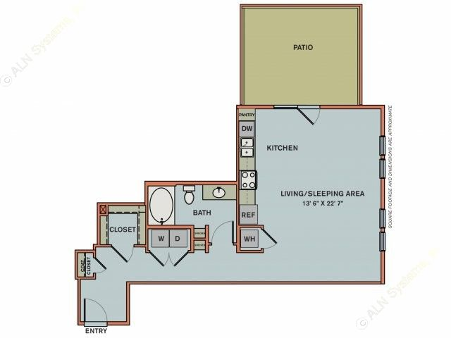 724 sq. ft. 3S2 floor plan