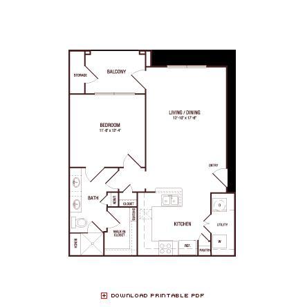 713 sq. ft. Monterrey Oak floor plan