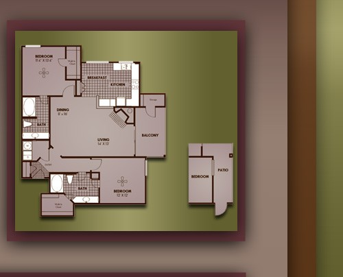 1,244 sq. ft. B3/CHEFFIELD floor plan