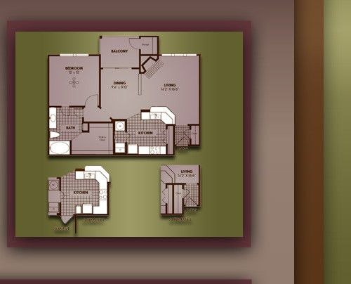 857 sq. ft. A3/CANTERBURY floor plan
