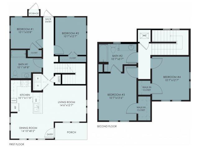 1,441 sq. ft. 60% floor plan
