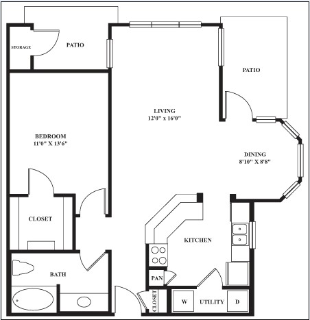 845 sq. ft. Palamino floor plan