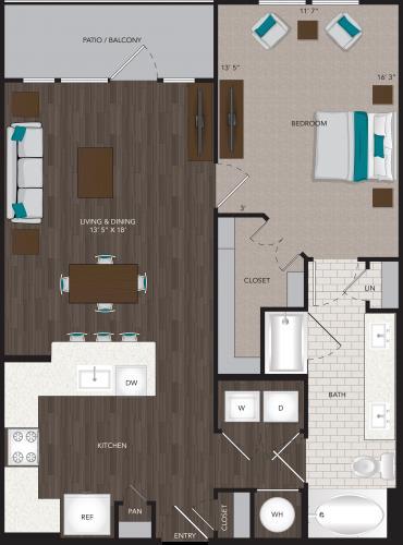 842 sq. ft. A10 floor plan