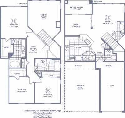 1,473 sq. ft. C3G floor plan
