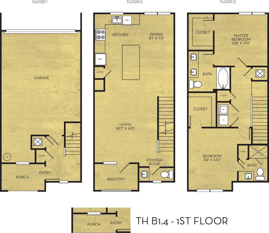 1,564 sq. ft. Taylor floor plan