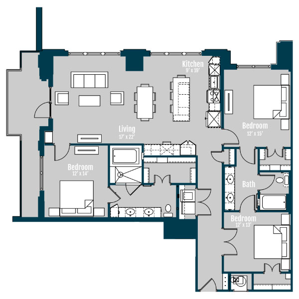 1,751 sq. ft. C1 floor plan