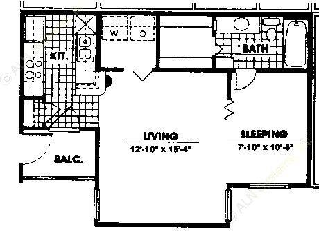 528 sq. ft. EFF floor plan