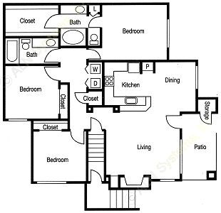 1,320 sq. ft. Chesterfield floor plan