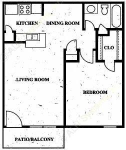 634 sq. ft. floor plan