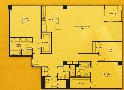 2,101 sq. ft. N floor plan