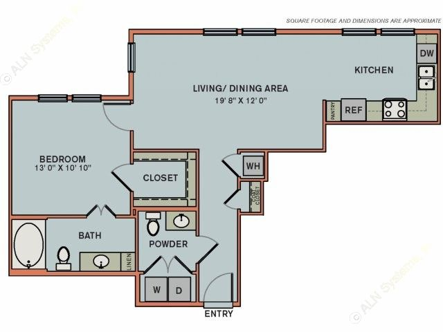806 sq. ft. 3A1.2 floor plan