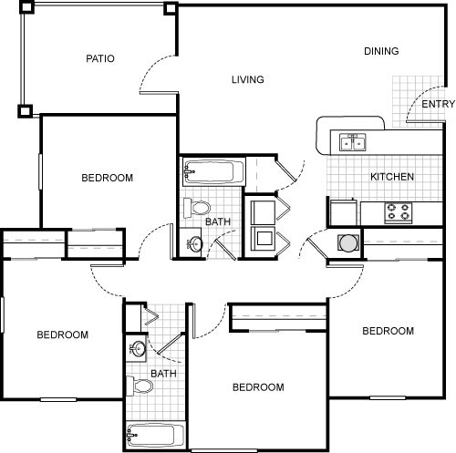 1,235 sq. ft. floor plan