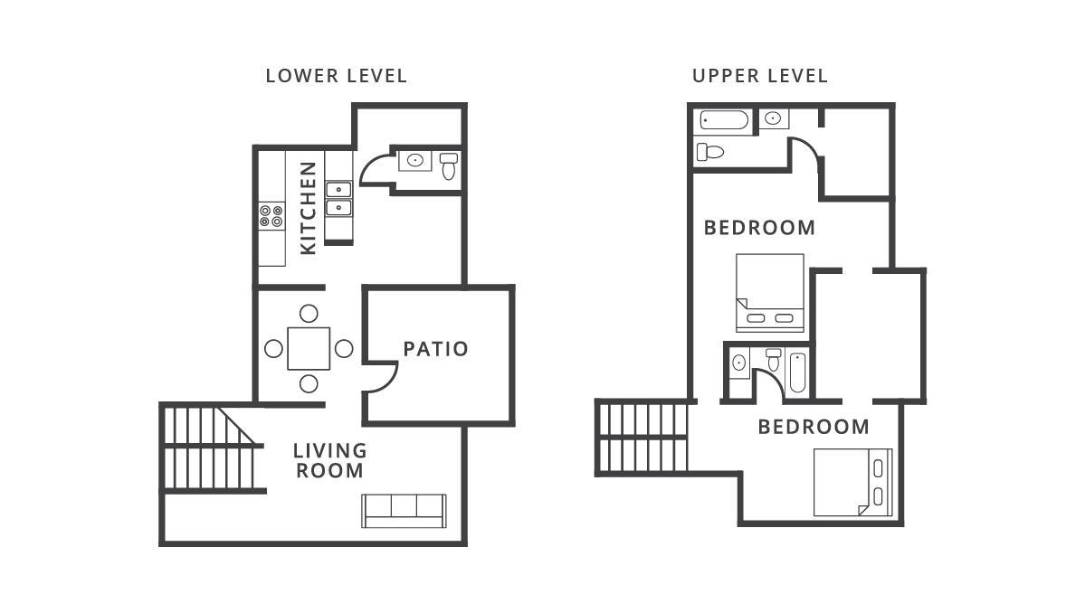 1,268 sq. ft. Cairo floor plan