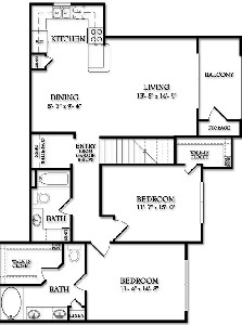 1,211 sq. ft. Fairmont floor plan