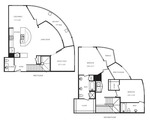1,869 sq. ft. B16 floor plan