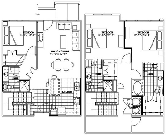 1,725 sq. ft. C1 floor plan