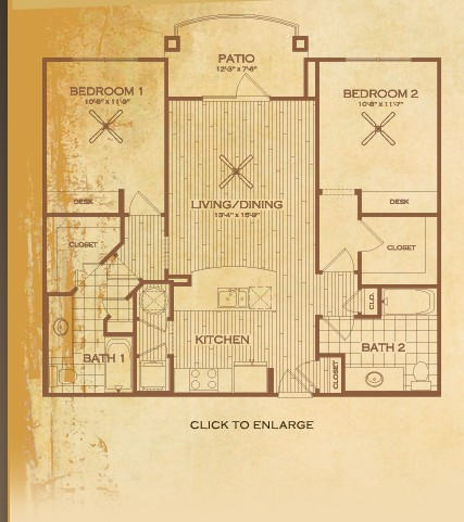 1,048 sq. ft. Bastrop floor plan
