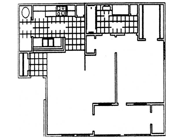 670 sq. ft. Mustang floor plan