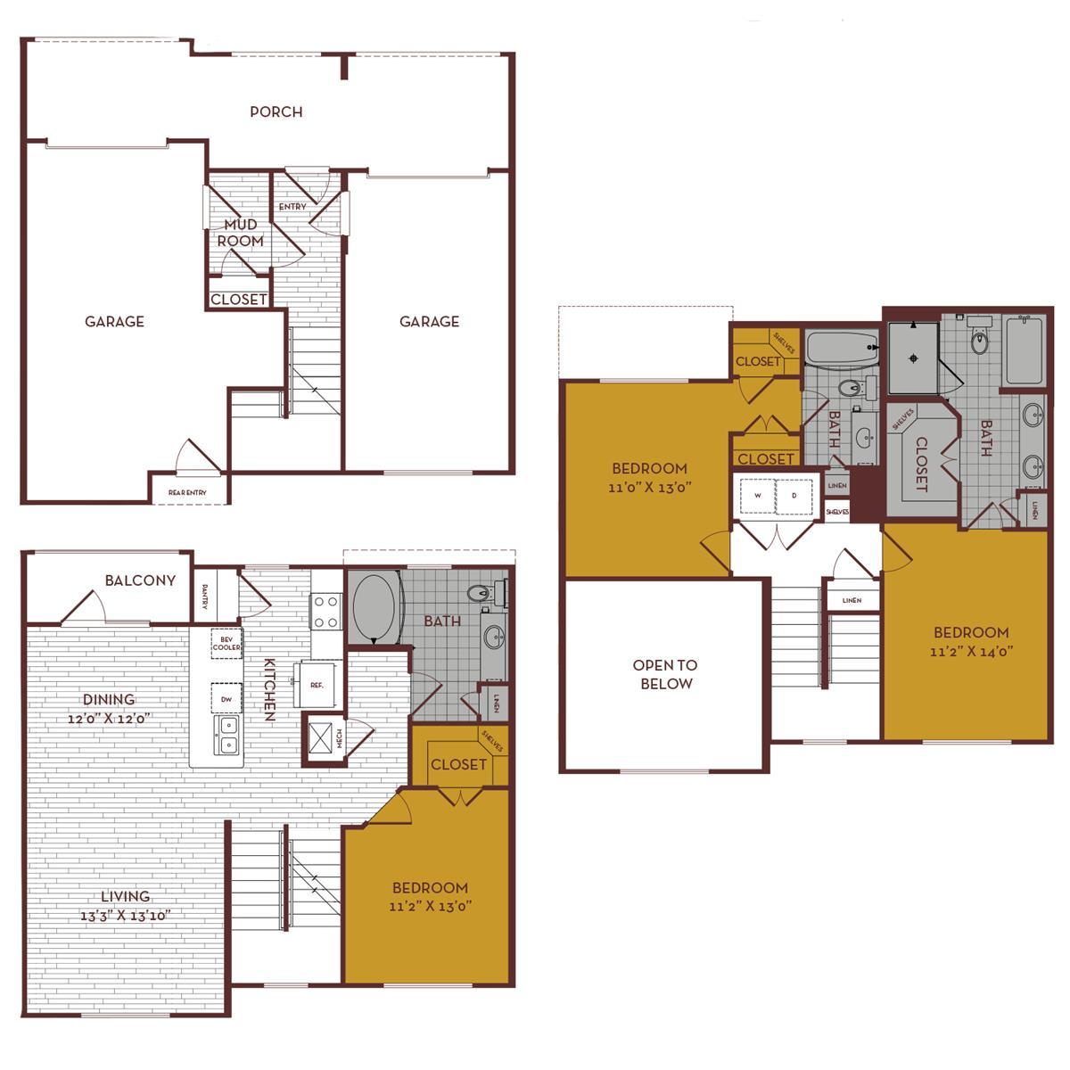 1,746 sq. ft. D2 MS floor plan