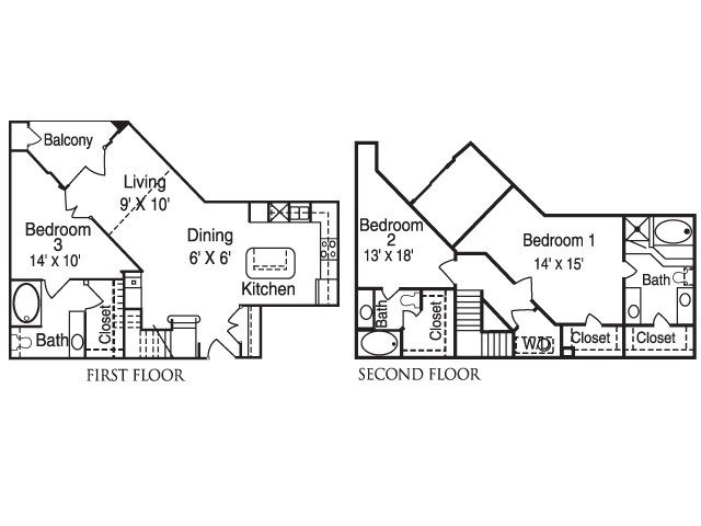 1,696 sq. ft. MPS12 floor plan