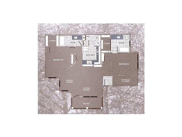 1,163 sq. ft. B3 floor plan