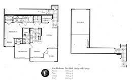 1,187 sq. ft. E floor plan