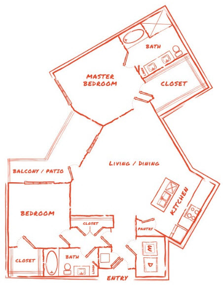 1,481 sq. ft. B8 floor plan