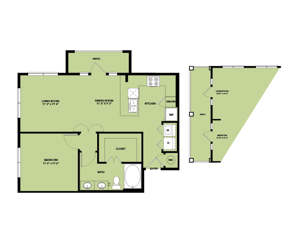 773 sq. ft. A9.1 floor plan