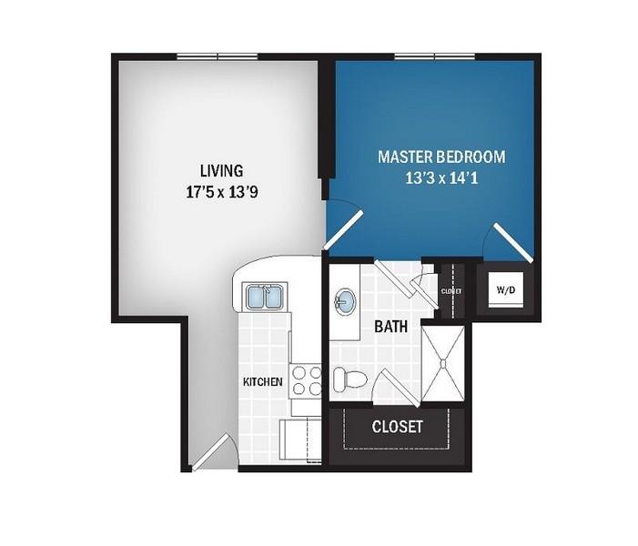 669 sq. ft. Zephyr floor plan