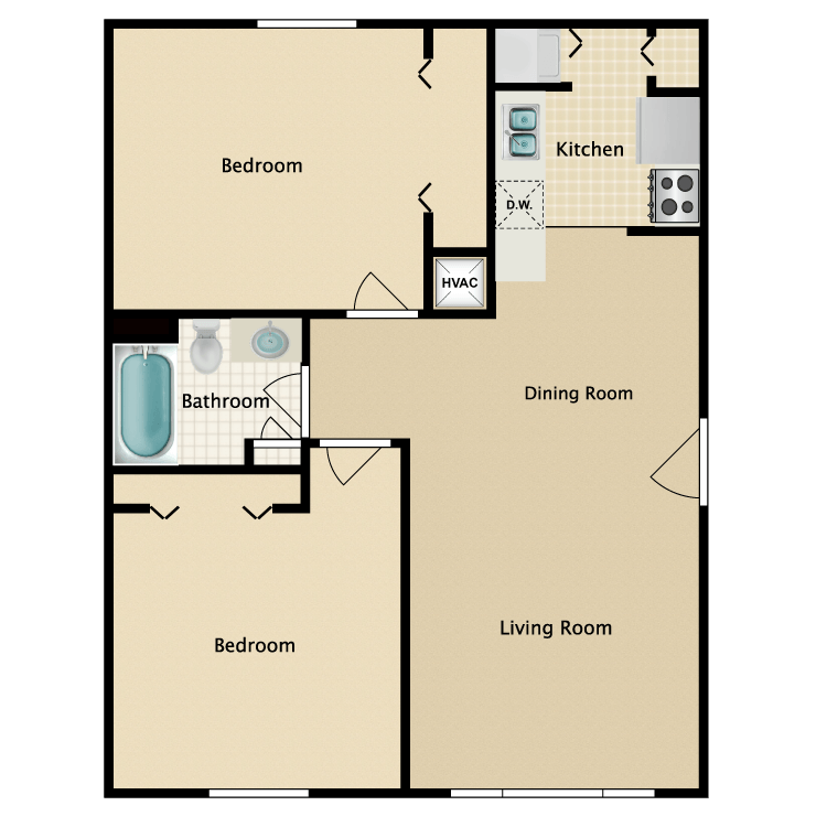 786 sq. ft. floor plan