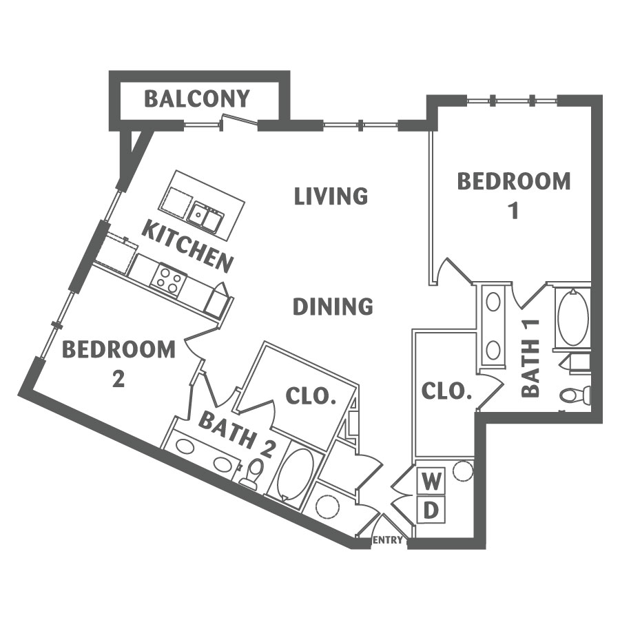 1,317 sq. ft. B9 floor plan