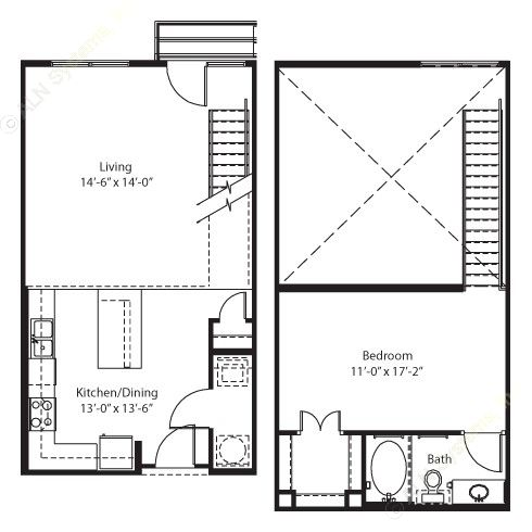 865 sq. ft. to 886 sq. ft. Jasper floor plan