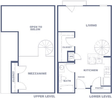1,595 sq. ft. BDLR floor plan